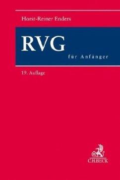 RVG für Anfänger - Enders, Horst-Reiner