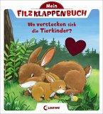 Mein Filzklappenbuch - Wo verstecken sich die Tierkinder?