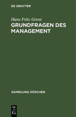 Grundfragen des Management (eBook, PDF) - Gross, Hans Fritz