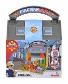 Simba 109251057 - Feuerwehrmann Sam Kabeljaucafe mit 2 Figuren, Spieleset
