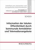 Information der lokalen Öffentlichkeit durch kommunale Amtsblätter und Telemedienangebote