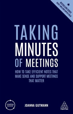 Taking Minutes of Meetings (eBook, ePUB) - Gutmann, Joanna