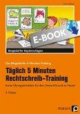 Täglich 5 Minuten Rechtschreib-Training 4. Klasse (eBook, PDF)