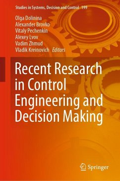Recent Research in Control Engineering and Decision Making (eBook, PDF)