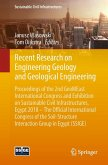 Recent Research on Engineering Geology and Geological Engineering (eBook, PDF)