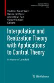 Interpolation and Realization Theory with Applications to Control Theory (eBook, PDF)