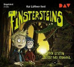 Den Letzten beißt das Krokodil / Die Finstersteins Bd.3 (3 Audio-CDs) (Mängelexemplar) - Lüftner, Kai
