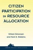 Citizen Participation In Resource Allocation (eBook, PDF)