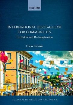 International Heritage Law for Communities (eBook, PDF) - Lixinski, Lucas
