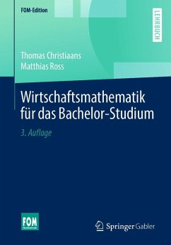 Wirtschaftsmathematik für das Bachelor-Studium (eBook, PDF) - Christiaans, Thomas; Ross, Matthias