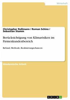 Berücksichtigung von Klimarisiken im Firmenkundenbereich (eBook, PDF)