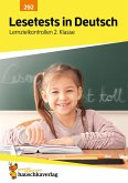 Lesetests in Deutsch - Lernzielkontrollen 2. Klasse, A4- Heft