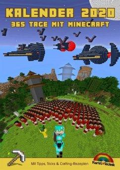 Kalender 2020 - 365 Tage mit Minecraft inklusive Tipps, Tricks & Crafting Rezepten im DIN A4 Format - Haberkamp, David