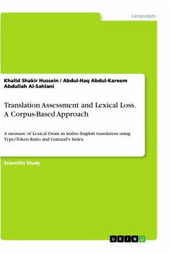 Translation Assessment and Lexical Loss. A Corpus-Based Approach