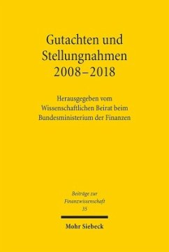 Gutachten und Stellungnahmen 2008-2018
