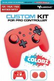 SUBSONIC Custom Kit for Pro Controller, 1 Skin (rot), 2 Thumb Grips für Nintendo Switch