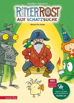 Ritter Rost auf Schatzsuche / Ritter Rost Bd.15 mit Audio-CD - Hilbert, Jörg