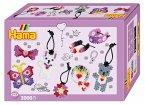 Hama 3508 - Bügelperlen, Geschenkpackung Modeschmuck, 2000 Midi-Perlen und Zubehör