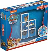 Carletto 8400079 - GEOMAG MAGICUBE Chase Vehicle, PAW Patrol, Police, Magnetisches Konstruktionsspielzeug, 5-teilig