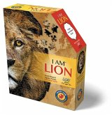 Carletto 883001 - MADD CAPP, Head-Shaped Puzzle, I AM LION, Löwe, 550 Teile