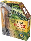 Carletto 883010 - MADD CAPP, Head-Shaped Puzzle, I AM HORSE, Pferd, 550 Teile
