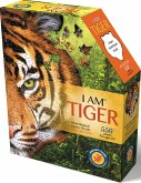 Carletto 883005 - MADD CAPP, Head-Shaped Puzzle, I AM TIGER, 550 Teile