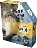 Carletto 883003 - MADD CAPP, Head-Shaped Puzzle, I AM WOLF, 550 Teile
