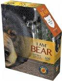 Carletto 883004 - MADD CAPP, Head-Shaped Puzzle, I AM BEAR, Bär, 550 Teile