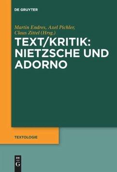 Text/Kritik: Nietzsche und Adorno