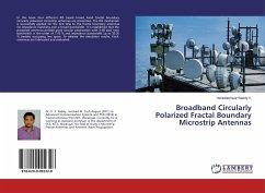 Broadband Circularly Polarized Fractal Boundary Microstrip Antennas