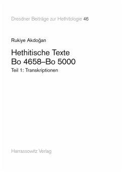 Hethitische Texte. Bo 4658-Bo 5000 (eBook, PDF) - Akdogan, Rukiye