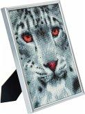 D.I.Y CAM-15 - Crystal Art Picture Frame Kit, Diamond Painting, Snow Leopard, Bastelset