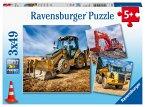 Baufahrzeuge im Einsatz (Kinderpuzzle)