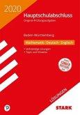 Lösungen zu Original-Prüfungen Hauptschulabschluss 2020 - Mathematik, Deutsch, Englisch 9. Klasse - BaWü