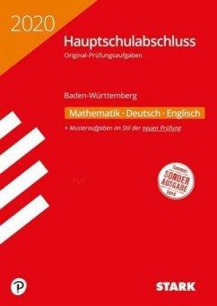 Original-Prüfungen Hauptschulabschluss 2020 - Mathematik, Deutsch, Englisch 9. Klasse - BaWü