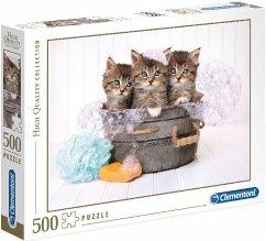 Katzen mit Seife (Puzzle)