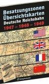 Übersichtskarten der DEUTSCHEN REICHSBAHN Besatzungszonen 1947-1948-1949