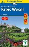 Radwanderkarte BVA Radwandern im Kreis Wesel am Niederrhein 1:50.000, reiß- und wetterfest, GPS-Tracks Download