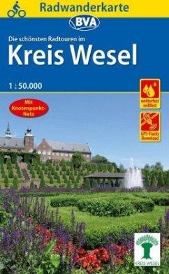 Radwanderkarte BVA Radwandern im Kreis Wesel am Niederrhein