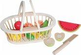 SpielMaus Holz Früchtekorb 13-teilig