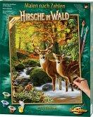 Schipper 609130810 - Malen nach Zahlen, Hirsche im Wald, MNZ, 40x50 cm