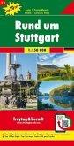 Freytag & Berndt Auto + Freizeitkarte Rund um Stuttgart, 1:150.000, Top 10 Tips