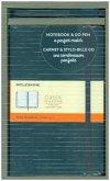 Moleskine Set mit Notizbuch und Stift Notizbuch: Large, A5, Liniert, Hard Cover, Saphir + Go Kugelschreiber
