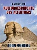 Kulturgeschichte des Altertums (eBook, ePUB)