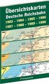 Übersichtskarten der DEUTSCHEN REICHSBAHN 1983-1984-1985-1986-1987-1988-1989-1990