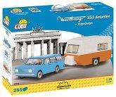 COBI 24592 - Cars, Wartburg 353 Tourist mit Caravan, Konstruktionsbausatz,255 Teile