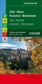 Eifel - Mosel - Hunsrück - Westerwald, Straßen- und Freizeitkarte 1:150.000