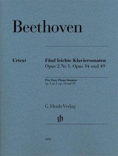 Fünf leichte Klaviersonaten op. 2 Nr. 1, op. 14 und op. 49 - Beethoven, Ludwig van - Fünf leichte Klaviersonaten