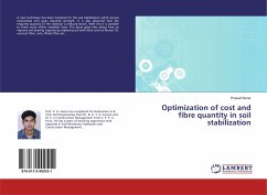 Optimization of cost and fibre quantity in soil stabilization