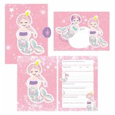 12 Glitzer Einladungskarten Meerjungfrau zum Geburtstag für Mädchen inkl. Umschläge   rosa glitzernde Geburtstagseinladungen für Kinder